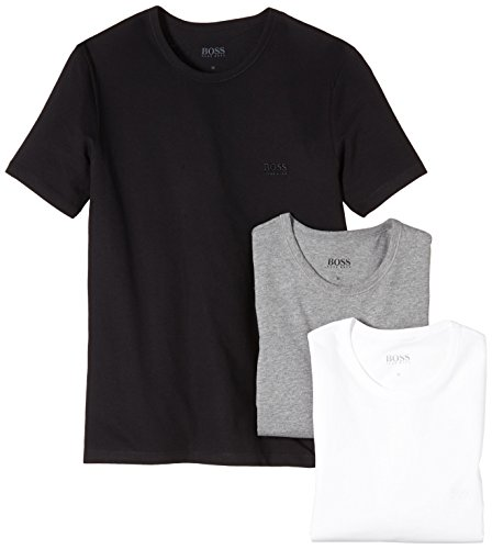 BOSS Hugo Herren T-Shirt SS RN 3P BM 10111875 02, 3er Pack, Einfarbig, Gr. Medium, mehrfarbig (Assorted Pre-Pack 999)