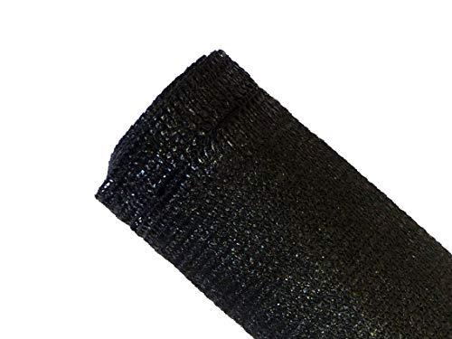 MAILLESTORE Brise-Vue 90% - Noir - 185g/m² - Boutonnières Noir 1.8m x 5m