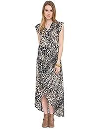 likemary Maxi Wrap Dress In Leopard Print