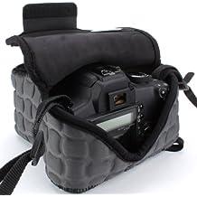 USA Gear Funda de Cámara Digital / Estuche Semipermeable para Cámara Reflex / Bolsa Protectora DSLR para Nikon D3300 D750 D5300 D5500 Canon EOS 1300D 100D 700D 750D Pentax K50 , Accesorios y más