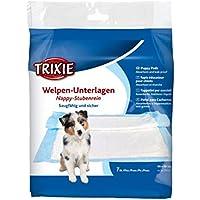 Trixie Welpen-Unterlage Nappy-Stubenrein Unterlagen Toilette saugfähig 5 größen (30 × 50 cm - 7 St. (23410))