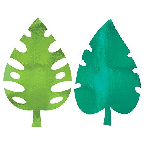 (studio four Party Deko Palmen Ausschnitte Dschungel Hawaii Sommerparty 8 Stück, 40cm, Grün)