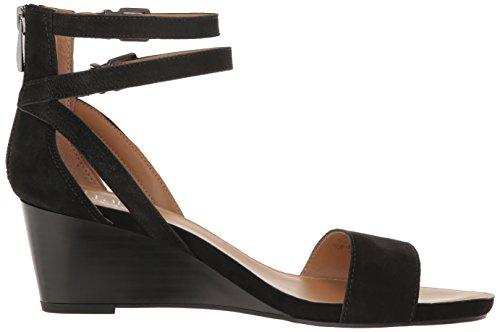 Franco Sarto Danissa Leder Keilabsätze Sandale Black