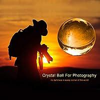 MerryNine Bola de Lente Fotográfica con Bolsa, K9 Crystal Suncatchers Ball con Bolsa de Microfibra, Accesorio Decorativo y Fotografía