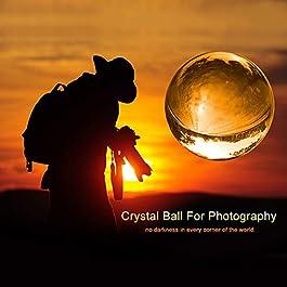 K9 – Palla per lenti fotografiche con custodia in microfibra, motivo: acchiappasole, Cristallo K9., 60mm with Pouch