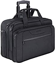 KROSER Rolling Laptop Bag Premium Wheeled Briefcase Fits Up to 17.3 Inch Laptop Water-Proof Overnight Roller C