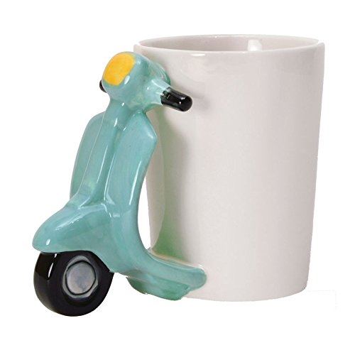 Retro-Roller Kaffeebecher in türkis - Retro-Roller Kaffeetasse Tasse Italien Becher