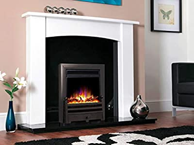 "New Designer Celsi Fire - Electriflame XD Hearth Mounted Electric Fire 16"" Bauhaus Black"