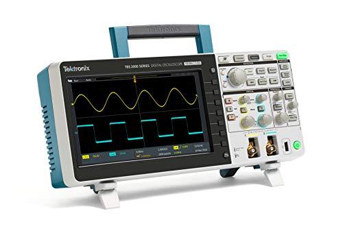 Tektronix TBS2102 - Osciloscopio digital de almacenamiento, ancho de banda de 100 MHz, tasa de muestreo 1GS/S, 2 canales, longitud de grabación de 20 m