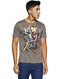 Avengers by Free Authority Men's Printed Regular Fit T-Shirt