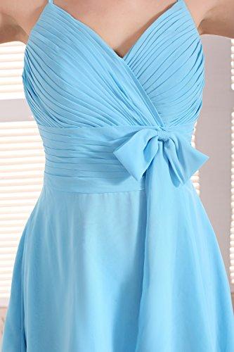 Bridal_Mall - Robe - Sans Manche - Femme Bleu - Bleu ciel
