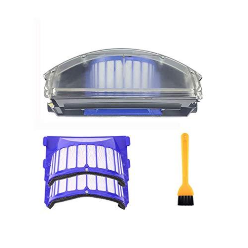 gfjfghfjfh Para Irobot Roomba 500 Serie 600 Filtro de depósito de Polvo Aero Vac Recogedor de depósito Aerovac 510 520 530 535 540 536 531 620 630 650