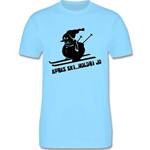 Après Ski - Ski Schneemann - Herren Premium T-Shirt Hellblau