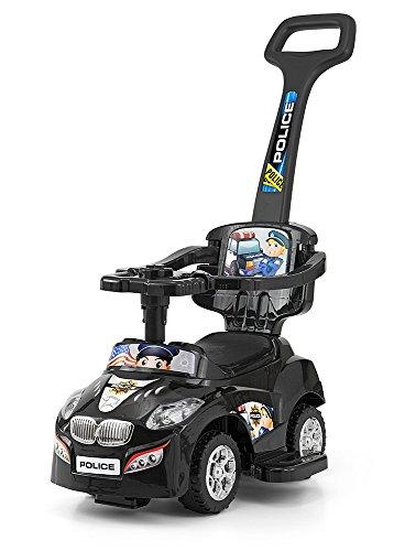 3 in 1 Girello Passeggino a forma di auto Auto per bambini Impugnatura a bastone (Slittamento Forme)