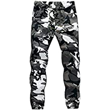 Juleya Hombre Jogger Lápiz Harem Pantalones Hombres Camuflaje Pantalones  Militares Loose Cómodo Pantalones de Carga Camo aedf48636c7