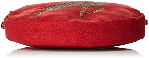 Alpenflüstern - Trachtentasche Herziger Hirsch, Borse a tracolla Donna Rosso (Rot)