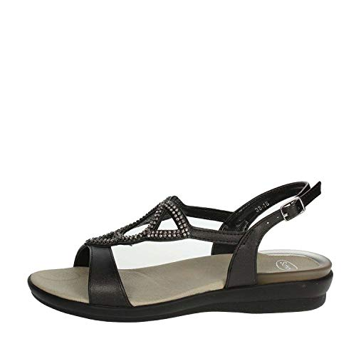 Scholl scarpe donna sandali eruannie in pelle nero f26589-1004-360