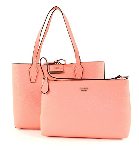 Guess Bobbi, Sacs portés épaule Peach Multi (Blanc / Rose)