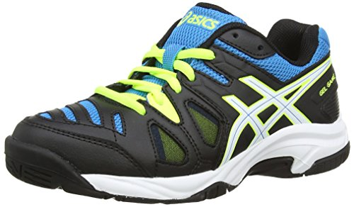 timeless design 7f73b ba4a7 ASICS Gel-Game 5 Gs, Unisex Kids  Tennis Shoes, Black (Onyx White Atomic  Blue - 9901), 2 UK (35 EU) - Buy Online in Oman.   Shoes Products in Oman -  See ...