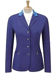 """Caldene Competition Scope - Chaqueta de concurso para hípica para niña, color azul, talla UK: 30-"""""""