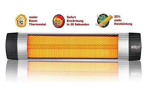 Infrarot Heizstrahler Infrarotstrahler Terrassenstrahler Infrarotheizung Standheizer Heizung Wärmestrahler zur Wandmontage (Höhenverstellbarer Standfuß separat erhältlich) …2000Watt