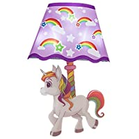 Out Of The Blue Plastic Wall Sticker With LED - Unicorn Lamp
