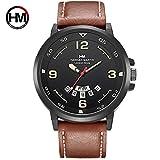 HM-1602 Hannah Martin Mode Mann Uhr mit Kalenderfunktion Casual Sport Quarzuhr Armbanduhr Weihnachtsgeschenk