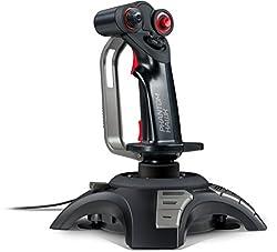 Speedlink PHANTOM HAWK Flightstick - Joystick für Gamer (mit Handablage - Stufenloser Schubregler - Force Vibration) für Gaming/PC/Notebook/Laptop, Kabellänge 2m schwarz