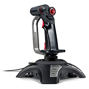 Speedlink PHANTOM HAWK Flightstick – Joystick für Gamer (mit Handablage – Stufenloser Schubregler – Force Vibration) für Gaming/PC/Notebook/Laptop, Kabellänge 2m schwarz