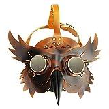 LINDANIG Steampunk Barra de Halloween Accesorios Nariz Larga pájaro máscara