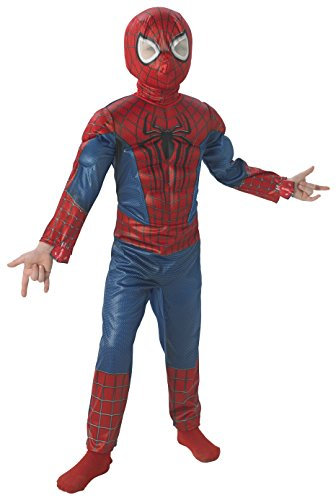 Marvale´s Amazing Spiderman Deluxe Kostüm Gr. 128-134 = Größe Medium