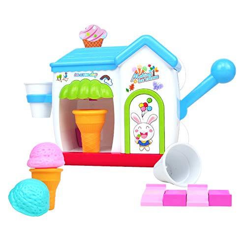 yoptote Wasserspielzeug Badewanne Kinder Eisständer Eismaschine Spielset Schaumeismaschine für die Badewanne in Farbenfrohem Design -Ab 3 4 5 Jahre (Mehrweg)