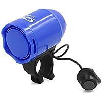 sourcing map Impermeable Claxon Fuerte Bocina para Bicicleta de Montaña Timbre Electrónico Plástico Azul Marino