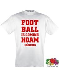 München Ultras Football is coming Hoam T-Shirt S-XXXL rot-w.1.