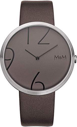 M&M Damen Analog Quarz Uhr mit Leder Armband M11881-526