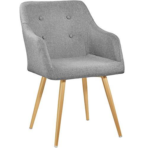 TecTake 402981 - Chaise Fauteuil de Salle à Manger de Bureau de Salon Rembourré Confort Design Scandinave 55 cm x...