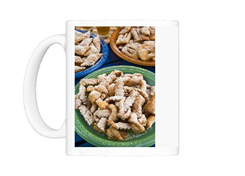 Mug of Crostoli (Grostoli) (Sweet fritters), Italian Carnival Cakes, Veneto, Italy (3627100)