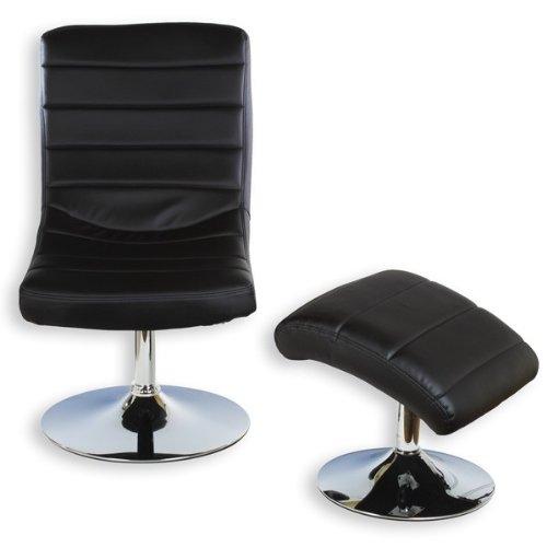 Relaxsessel mit Hocker FINN, schwarz - 2
