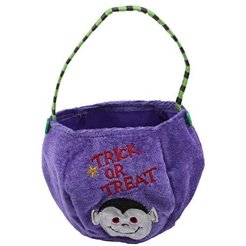 rbis Candy Bag Handtasche Süßes oder Saures Tasche Niedliche Aufbewahrungstasche Pouch Organizer für Halloween Party Decor, lila Vampir ()