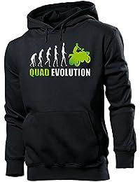 Motorsport - QUAD EVOLUTION - Cooler Comedy Herren Kapuzenpullover S-XXL
