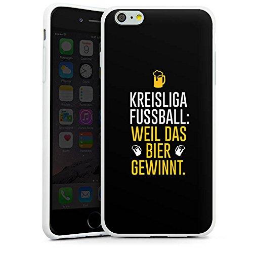 Apple iPhone X Silikon Hülle Case Schutzhülle Fußball Kreisliga Bier Silikon Case weiß