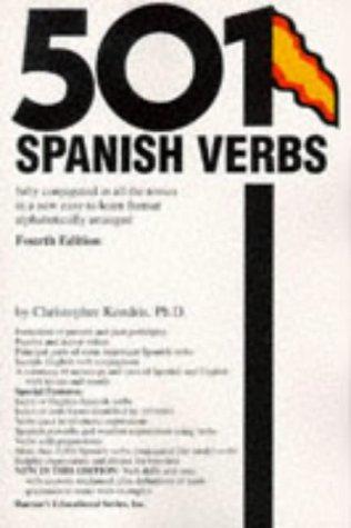 501 Spanish Verbs (Barrons) por Christopher Kendris