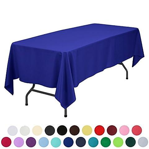Veeyoo Tischdecke, rund, rechteckig, robust, Polyester, Textil, königsblau, Rectangle-152 x 259 cm (Königsblau Tischdecke)