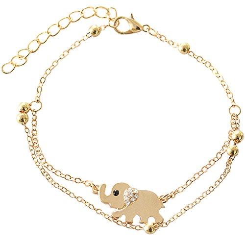 Fajewellery donna cuore amore elefante swarovski elementi cristallo farfalla cavigliere gioiello bracciali