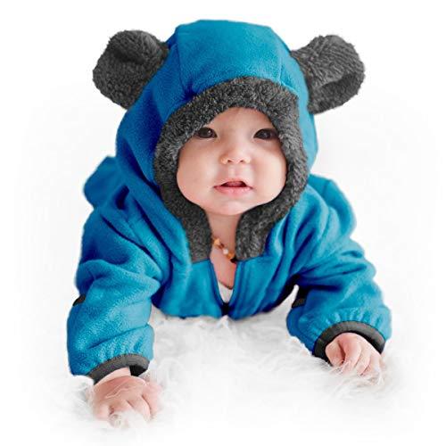 Funzies Fleece leichte Jacke - Winter Pyjama Oberbekleidung für Baby 0-3 monate Blauer Bär
