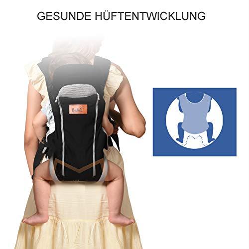 Manduca Babytrage Bauchtrage Rückentrage Hüfttrage rot - 2
