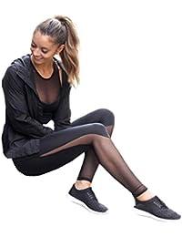 Pantalones mujer deporte Sannysis yoga pantalón chandal negro transparente (s)