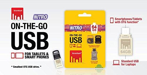 Strontium Nitro Plus OTG FLASH DRIVE , 64GB