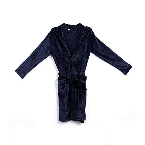 Accappatoio lungo da uomo in flanella di corallo morbido super morbido caldo accappatoio da uomo kimono accappatoio da uomo