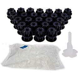 RLS nIVIFIX brunoplast carrelage starter kit noir pour carrelage 3-12 mm d'épaisseur (base, verlegesystem, fliesenverlegung, fliesenverlegehilfe fliesenverlegesystem)